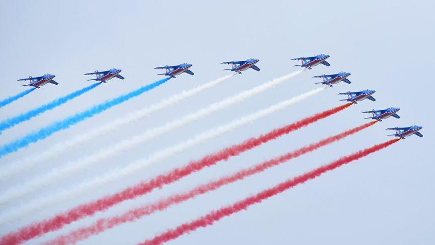 La Patrouille de France lors du défilé du 14 juillet 2014 sur les Champs-Élysées