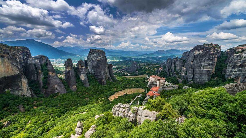 Roussanou Monastery in Meteora, Greece