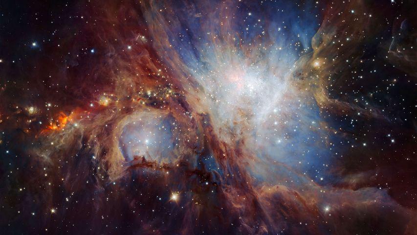 Image infrarouge de la nébuleuse d'Orion