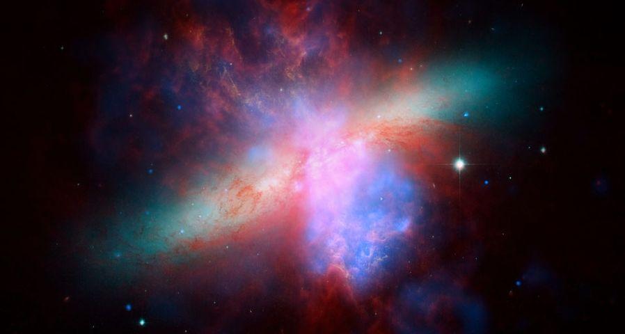 哈勃望远镜拍摄到的M82星系