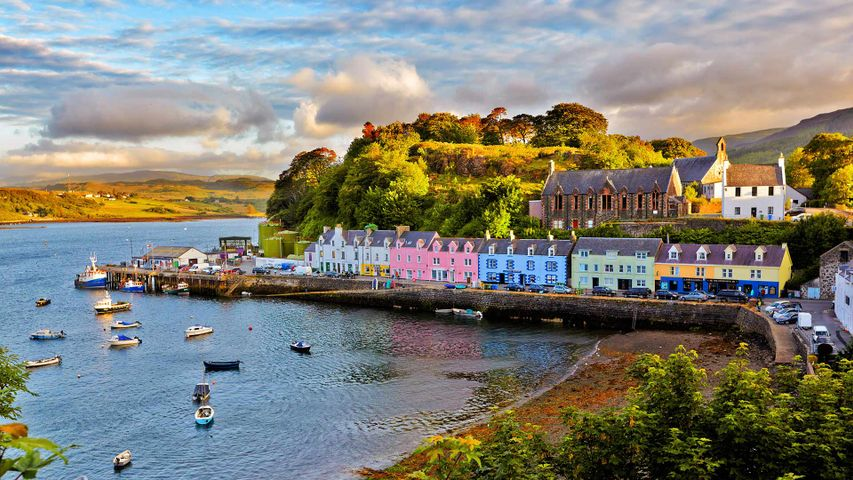 Portree before sunset, Isle of Skye