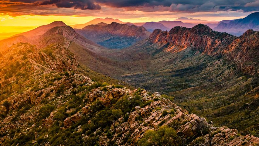 Sunset at Counts Point in West MacDonnell Ranges, Northern Territory, Australia
