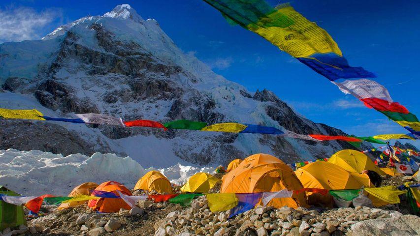 珠穆朗玛峰南基地营,尼泊尔