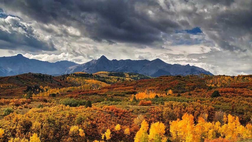 Col Dallas Divide près de Ridgway, Colorado, États-Unis