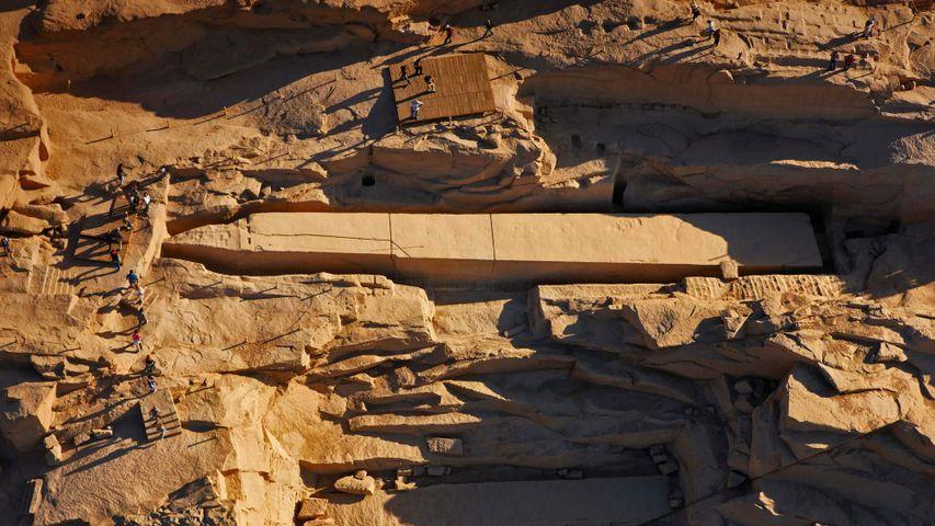 「未完成のオベリスク」エジプト, アスワン