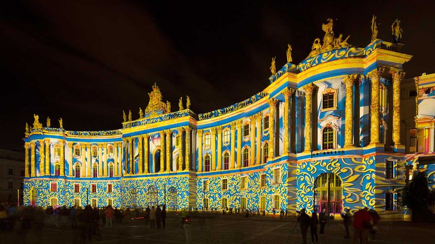 Humboldt-Universität, Juristische Fakultät, Festival of Lights, Berlin, Deutschland
