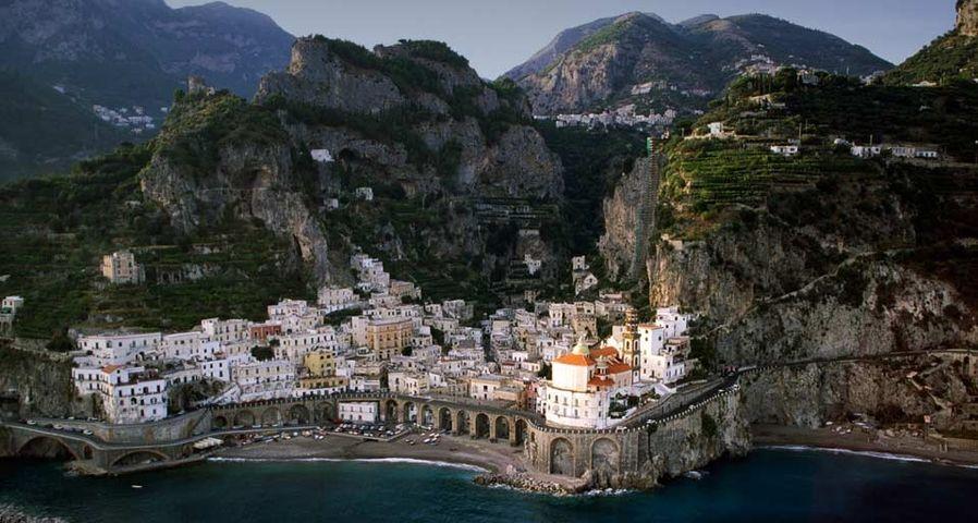 The town of Atrani on the Amalfi Coast, Italy