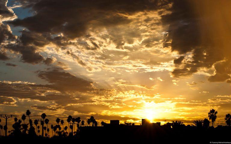 outdoor sky cloud sunset sun tree landscape sunrise