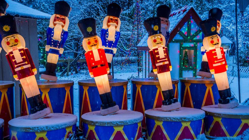 Christmas display at Stanley Park, Vancouver