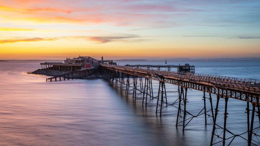 Birnbeck Pier, Bristol Channel, Weston-super-Mare, England