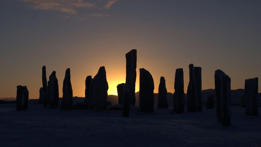 The Callanish Stones, Isle of Lewis, at sunset
