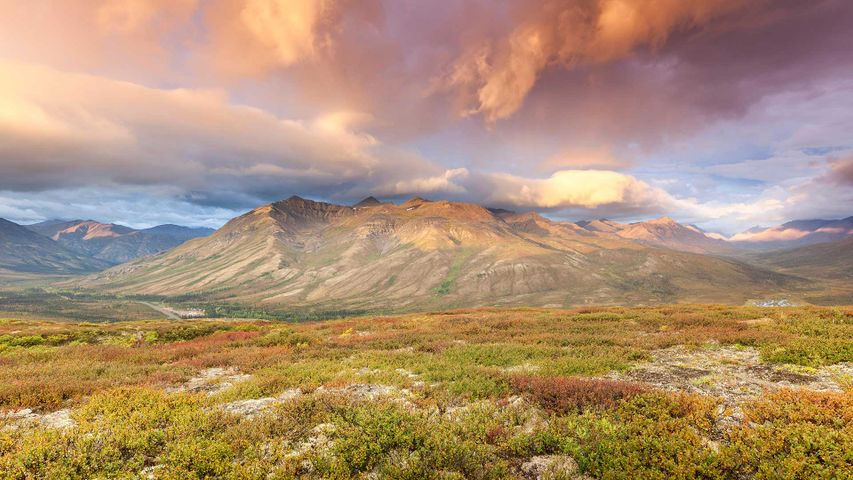 The Goldensides trailhead in Tombstone Territorial Park, Yukon