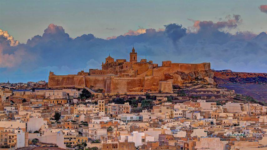 Cittadella on the island of Gozo, Malta