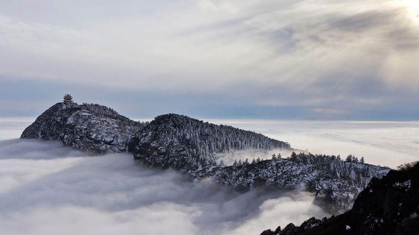 [冬至快乐] 四川省,乐山市,峨眉山云海