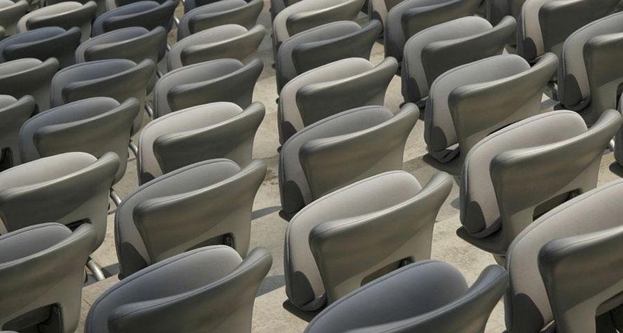 Stadionsitze in der Allianz Arena in München