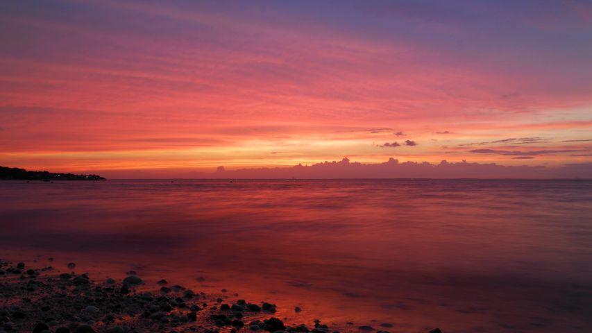 sky outdoor sunset cloud beach water lake sun