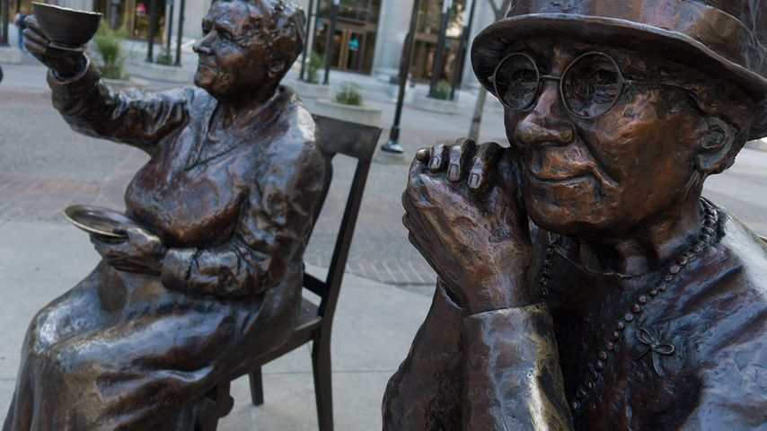 The 'Famous Five' women's suffrage memorial in Calgary