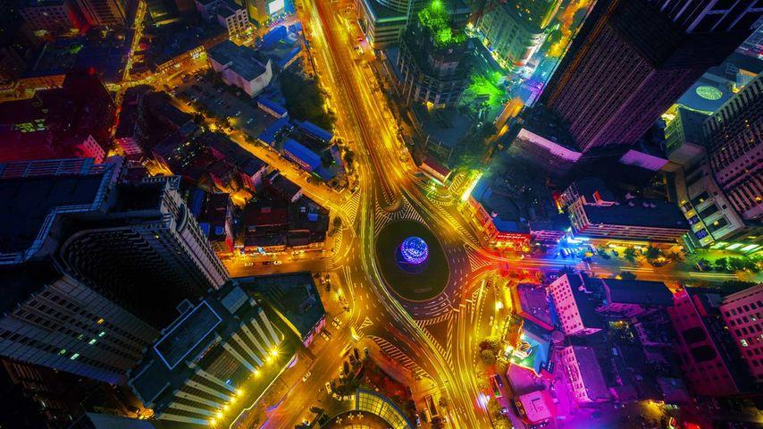 中国,大连的友谊广场
