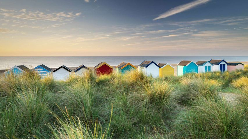 Beach huts in Southwold, Suffolk
