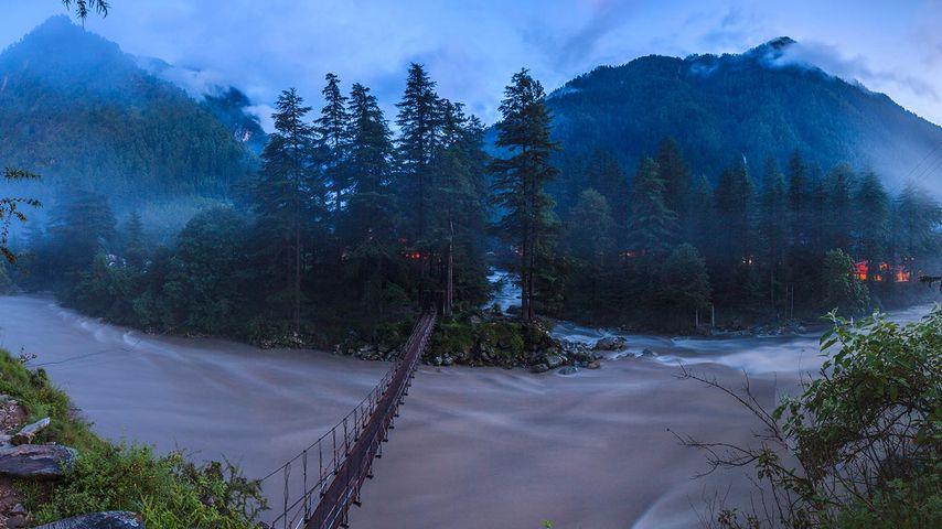 Parvati River in Kasol, Himachal Pradesh, India