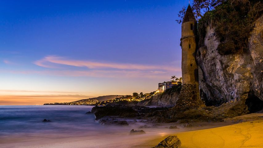 The tower at Victoria Beach, Laguna Beach, California