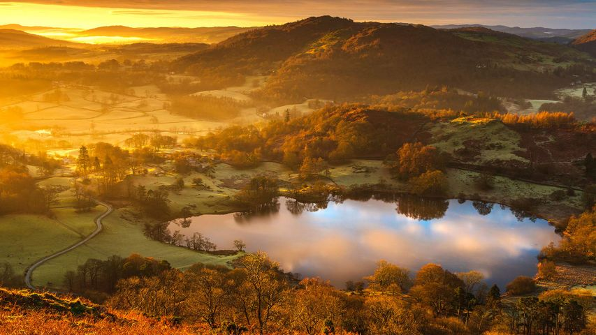 Loughrigg Tarn sunrise, Ambleside, Lake District