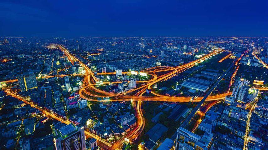 Time lapse of the expressways in Bangkok, Thailand