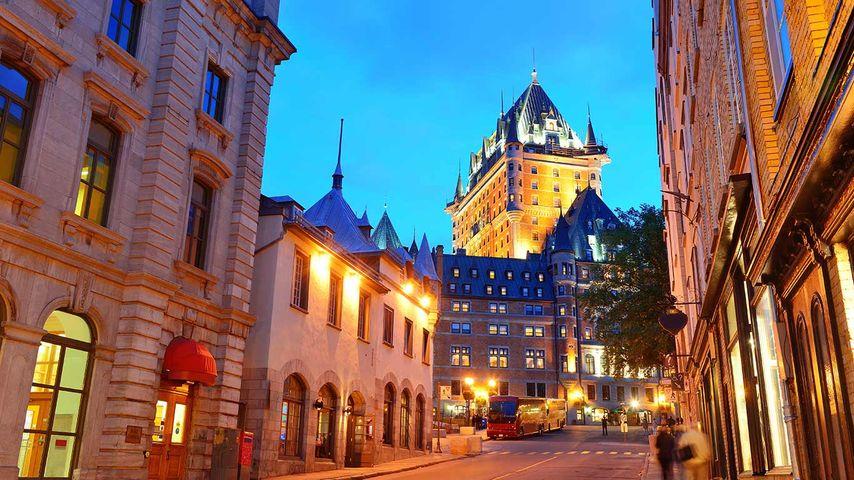 Description: Chateau Frontenac at dusk in Quebec City
