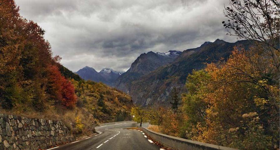 Route allant à l'Alpe d'Huez, Isère, Rhône-Alpes