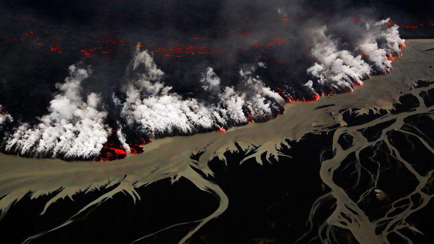 Éruption volcanique dans le Holuhraun, Islande