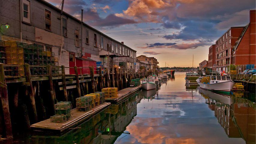 「ポートランドの埠頭」米国メイン州, ポートランド