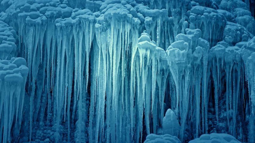 Cascade du Nideck gelée, Oberhaslach, Alsace