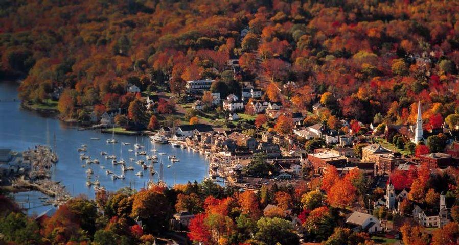 Camden,  Maine in the autumn
