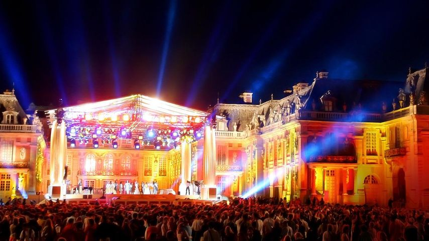 Illuminations au château de Versailles pendant la Fête de la musique, Yvelines, Île de France