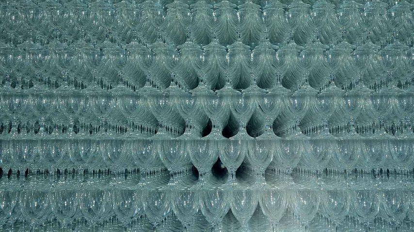 Glaspyramide in Zwiesel, Bayern, Deutschland