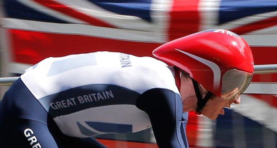 Bradley Wiggins in action at London 2012