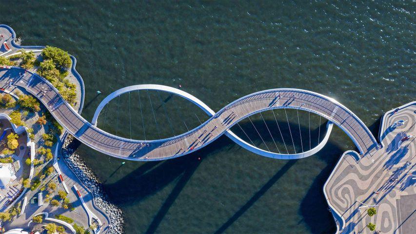 Elizabeth Quay Bridge in Perth, Australia