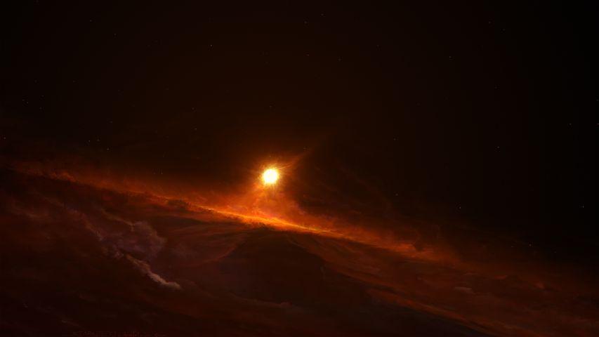 night cave light moon astronomy sky clouds night sky