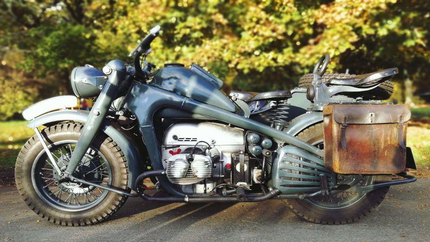 motorcycle outdoor tree auto part tire wheel land vehicle vehicle