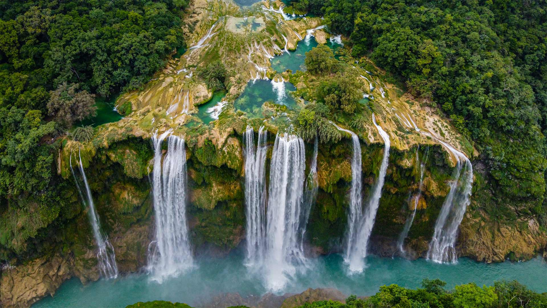 Tamul Waterfall In The State Of San Luis Potosi Mexico Bing Gallery