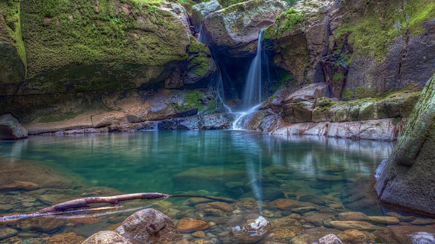 rock water nature outdoor river waterfall pond landscape