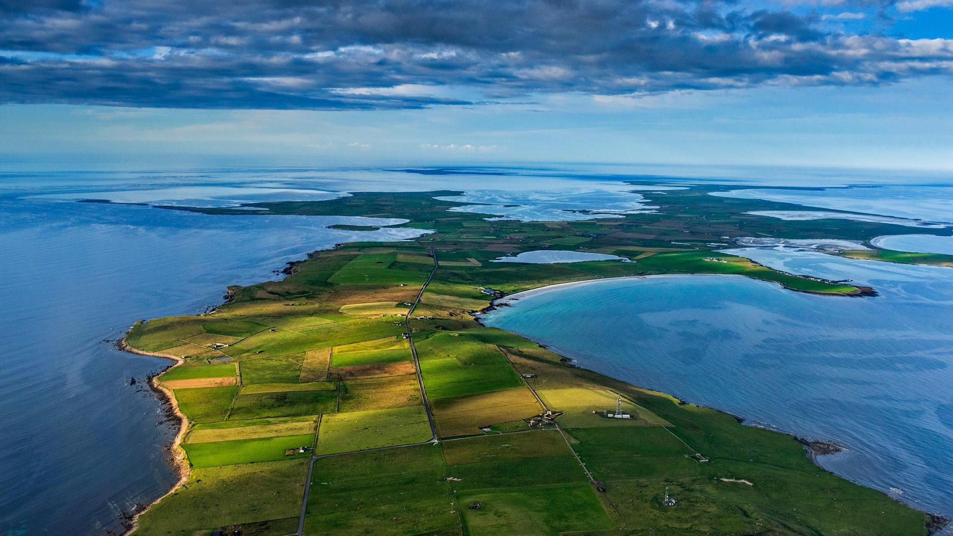 The island of Sanday in Orkney, Scotland