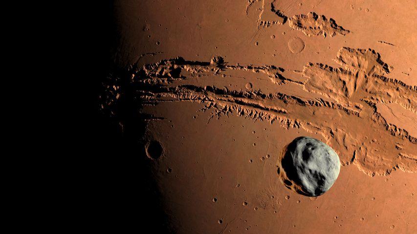 火星上的峡谷系统-水手号峡谷地区上的小行星