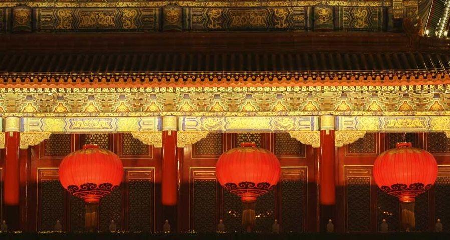 北京天安门的红灯笼