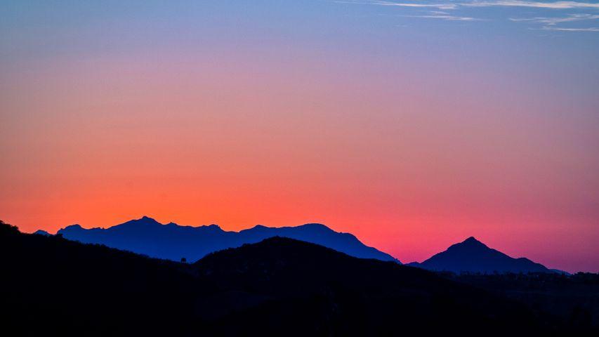 mountain sky outdoor sunset cloud landscape sunrise nature