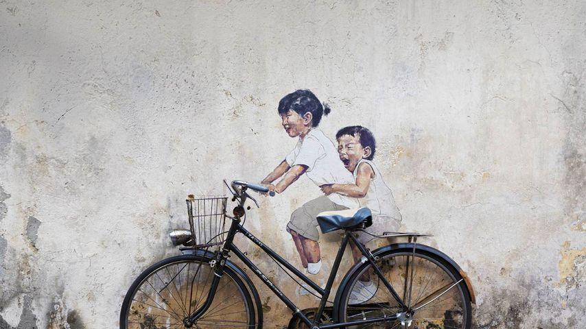 Mural in George Town, Penang, Malaysia
