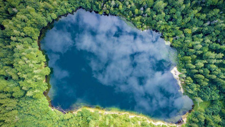 Lake Eibensee in the Austrian Alps near Salzburg