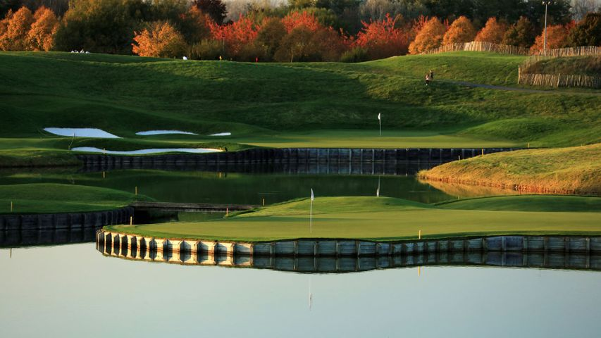 The Albatros course at Le Golf National in France, host of the 2018 Ryder Cup