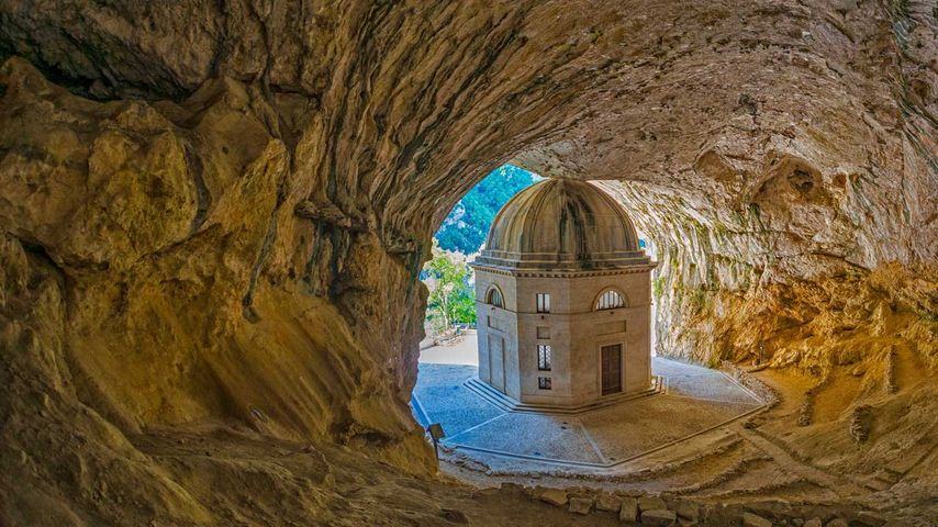 Temple of Valadier, Genga, Italy