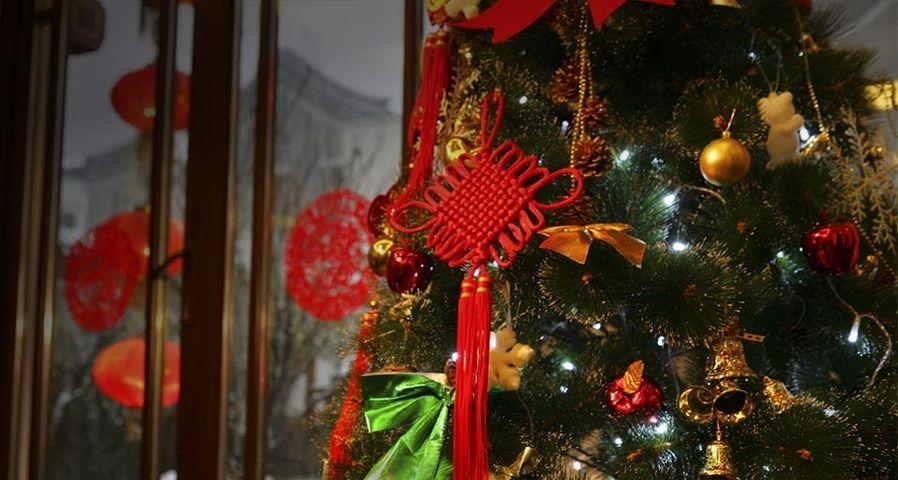 圣诞树和中国结